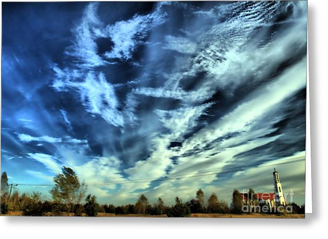 Ladnscape Greeting Cards - Sky Greeting Card by Justyna JBJart
