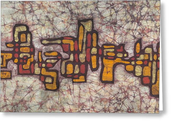 Abstract Tapestries - Textiles Greeting Cards - Skyline 1 Greeting Card by Kevin Houchin