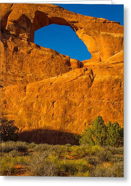 Skyline Arch Greeting Cards - Skyline arch sunset Greeting Card by Kunal Mehra