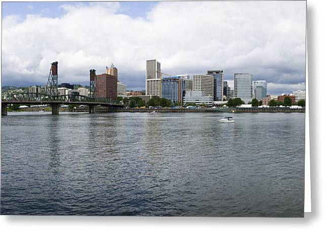 Skyline As Seen From The Vera Katz Greeting Card by Panoramic Images