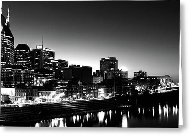 Skylines At Night Along Cumberland Greeting Card by Panoramic Images