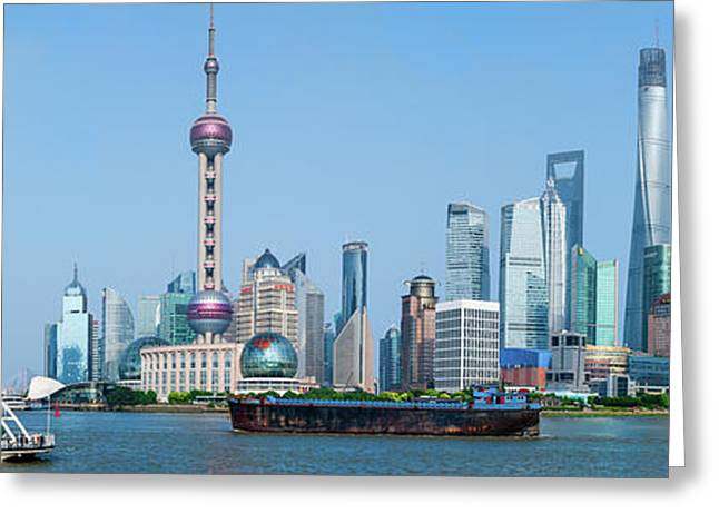 Skylines At The Waterfront, Oriental Greeting Card by Panoramic Images