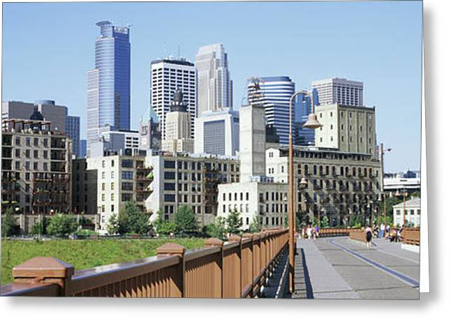 Skyscrapers In A City, Minneapolis Greeting Card by Panoramic Images