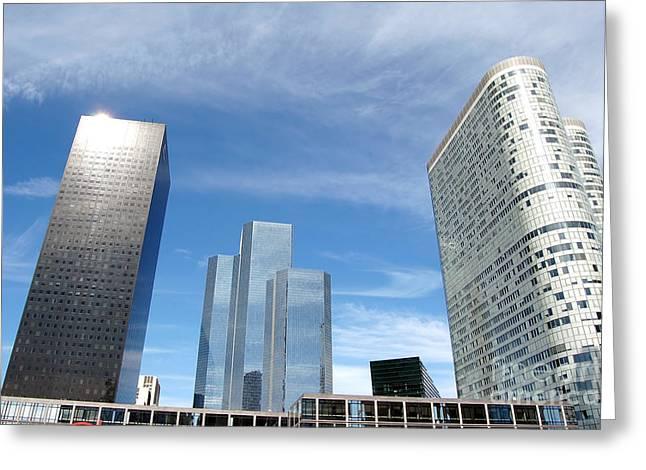 Skyscrapers Greeting Card by Michal Bednarek