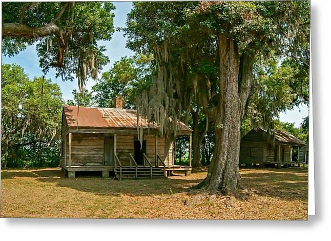 Evergreen Plantation Photographs Greeting Cards - Slave Quarters  Greeting Card by Steve Harrington