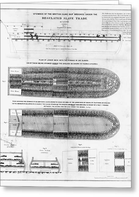 Slaves Greeting Cards - Slavery: Slave Ships Greeting Card by Granger