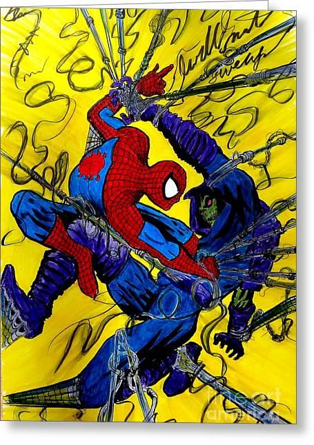 X Men Poster Greeting Cards - Sleepwalker 7 Greeting Card by Justin Moore