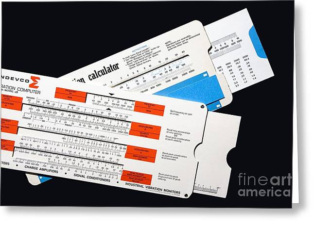 Calculating Greeting Cards - Slide Chart Calculators Greeting Card by Sheila Terry