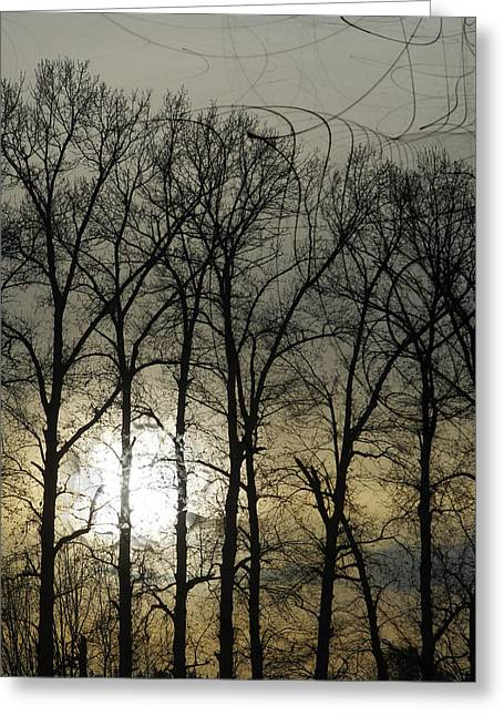 Grey Clouds Digital Art Greeting Cards - Slough Greeting Card by David Fox
