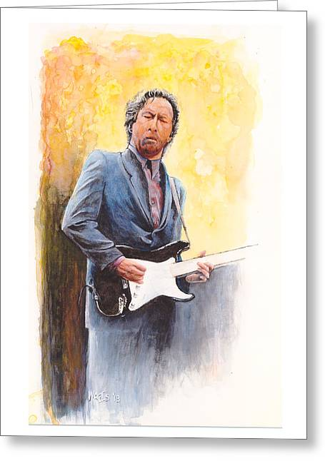 Slowhand Greeting Cards - Slow Hand Greeting Card by William Walts