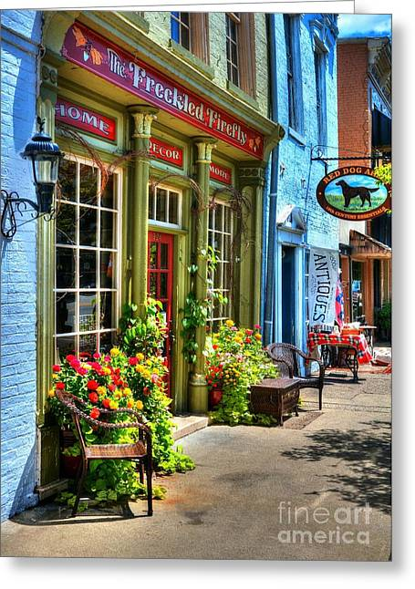 Indiana Flowers Greeting Cards - Small Town America 4 Greeting Card by Mel Steinhauer