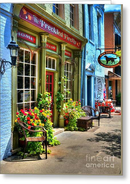 Small Town America 4 Greeting Card by Mel Steinhauer