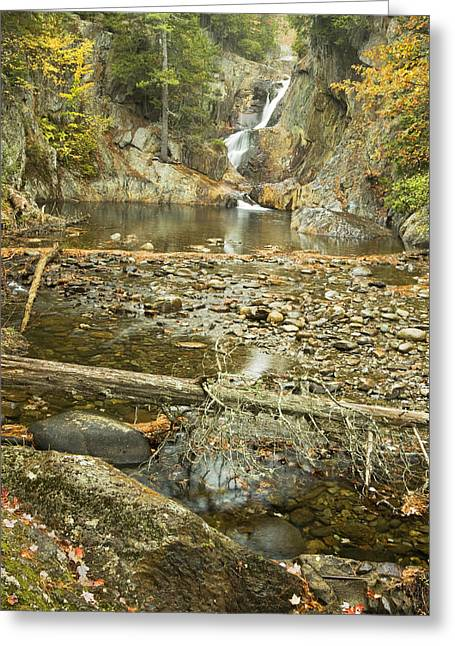 Falling Water Greeting Cards - Smalls Falls In Autumn Western Maine Greeting Card by Keith Webber Jr
