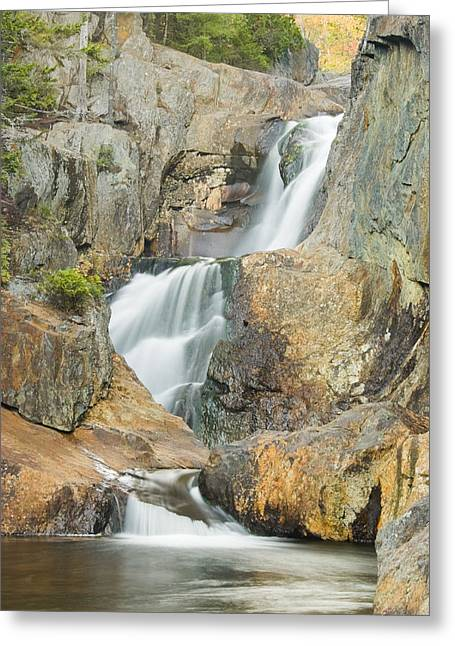 Falling Water Greeting Cards - Smalls Falls In Western Maine Greeting Card by Keith Webber Jr