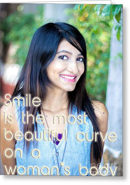 Empowerment Greeting Cards - Smile Greeting Card by Vijay Sonar