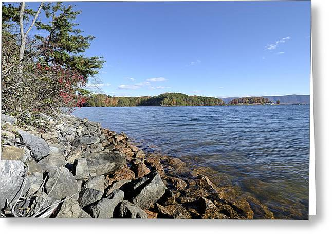 State Park; Mountains Greeting Cards - Smith Mountain Lake State Park Virginia Greeting Card by Brendan Reals