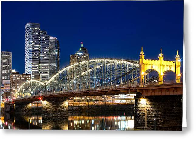 Pittsburgh Greeting Cards - Smithfield Street Bridge Greeting Card by Emmanuel Panagiotakis