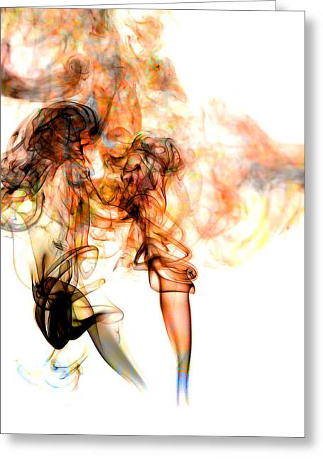 Fuselier Greeting Cards - Smoke Abstract Greeting Card by Cecil Fuselier