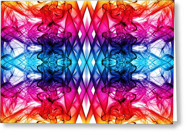 Algorithmic Abstract Greeting Cards - Smoke Art 144 Greeting Card by Steve Purnell