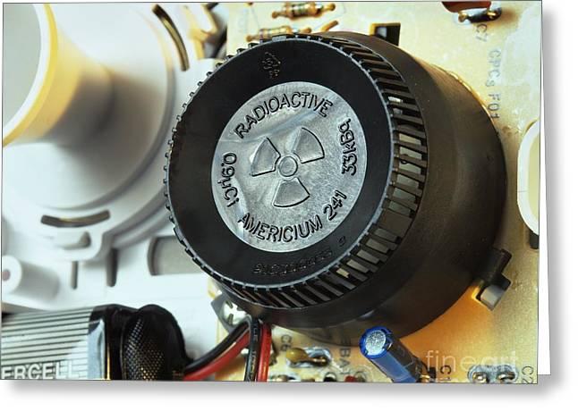 Smoke Detector Greeting Cards - Smoke Detector Radiation Source Greeting Card by Martin Bond
