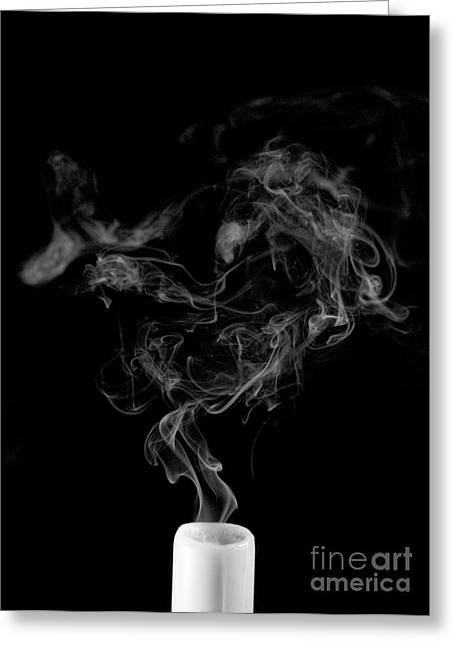 Abstract Movement Greeting Cards - Smoking Candle Greeting Card by Scott Camazine