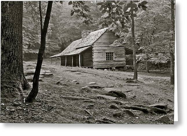 Family Love Greeting Cards - Smoky Mountain Cabin Greeting Card by Frozen in Time Fine Art Photography