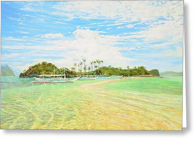 El-nido Greeting Cards - Snake Island Palawan Greeting Card by Yinguo Huang