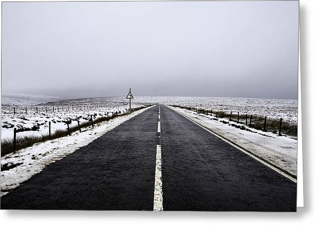 Dark Peak Greeting Cards - Snake Pass Greeting Card by Ollie Taylor