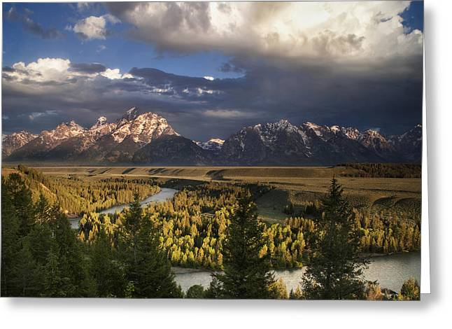 Snake River Greeting Cards - Snake River Morning Greeting Card by Andrew Soundarajan