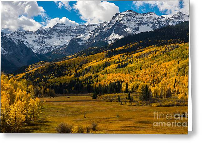 Snow-covered Landscape Greeting Cards - Sneffels Range Autumn - Dallas Divide - Colorado Greeting Card by Gary Whitton