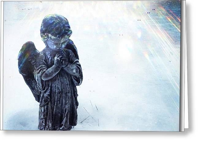 Repurposed Greeting Cards - Snow Angel 2 Greeting Card by Gregg Jabs