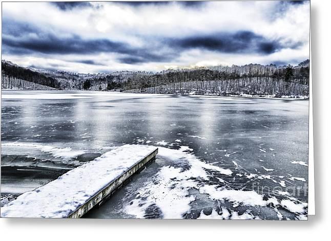Snow Big Ditch Lake Greeting Card by Thomas R Fletcher