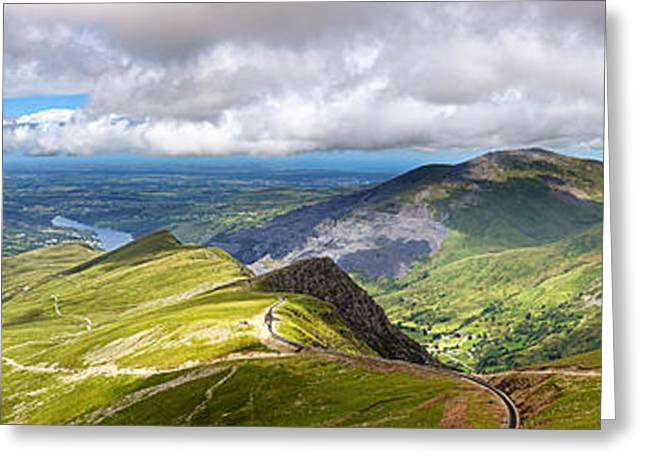 Peaceful Scenery Greeting Cards - Snowdonia Greeting Card by Jane Rix