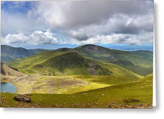 Snowdonia panorama Greeting Card by Jane Rix
