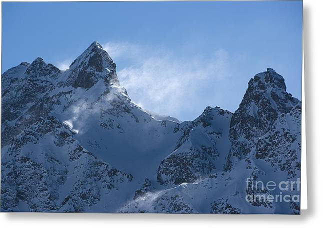Drifting Snow Greeting Cards - Snowdrift Formation Greeting Card by Dr Juerg Alean