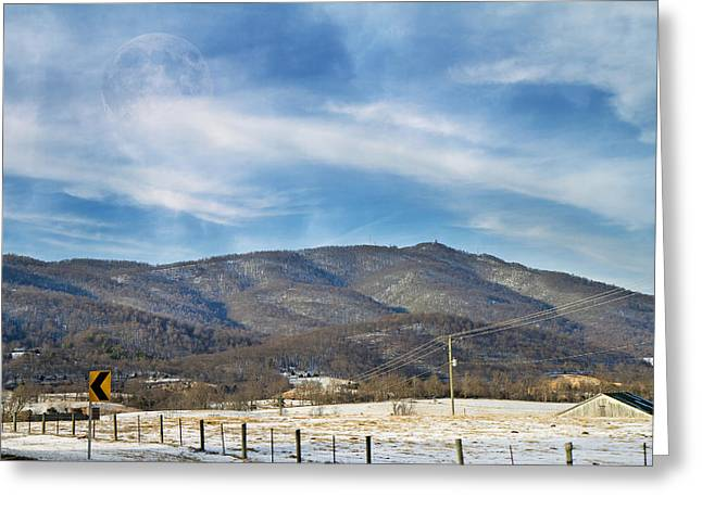 Blacktop Greeting Cards - Snowy High Peak Mountain Greeting Card by Betsy C  Knapp