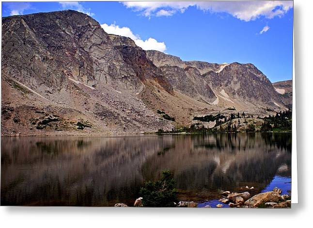 Snowy Mountain Loop 1 Greeting Card by Marty Koch