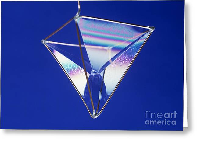 Coat Hanger Greeting Cards - Soap Films On A Pyramid Greeting Card by Andrew Lambert Photography