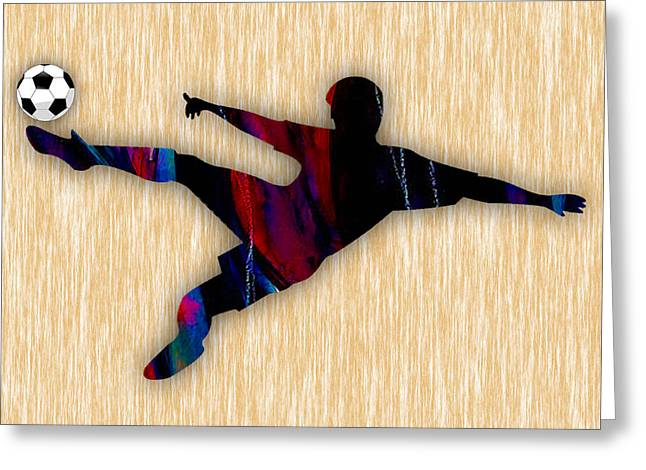 Sport Greeting Cards - Soccer Greeting Card by Marvin Blaine