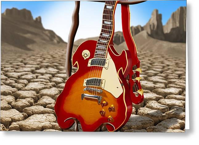 Mike Mcglothlen Greeting Cards - Soft Guitar II Greeting Card by Mike McGlothlen