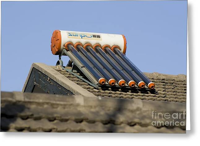 Environment-friendly Greeting Cards - Solar Heating System Greeting Card by Mark Williamson