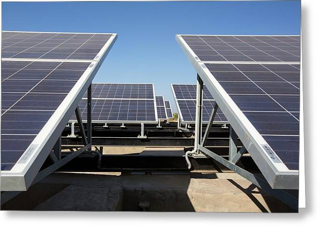 Solar Panels Providing Electricity Greeting Card by Ashley Cooper