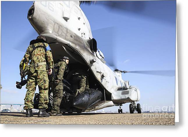 Clemente Greeting Cards - Soldiers With The Japan Ground Greeting Card by Stocktrek Images
