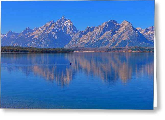 Grand Teton Greeting Cards - Solitude Greeting Card by Greg Norrell