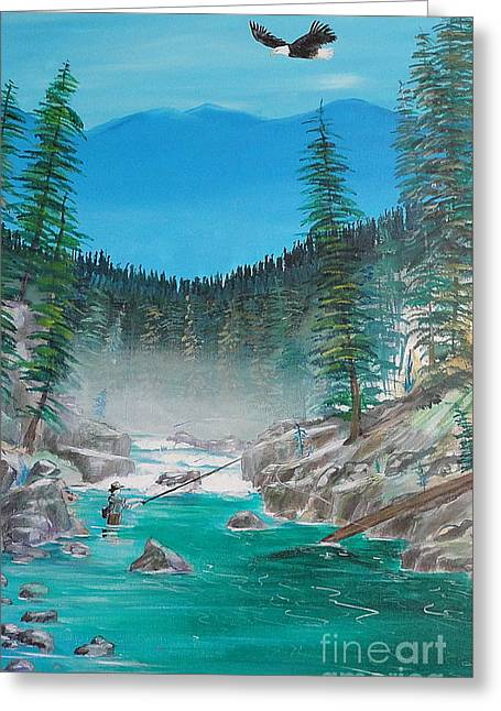 John Lyes Greeting Cards - Solitude on the Chehalis  Greeting Card by John Lyes