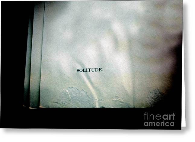 Solitude.  Greeting Card by Steven  Digman