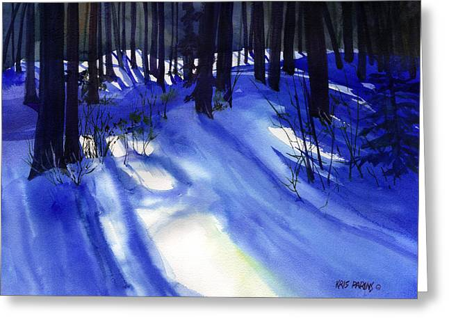 Midwest Artist Greeting Cards - Solstice Shadows Greeting Card by Kris Parins