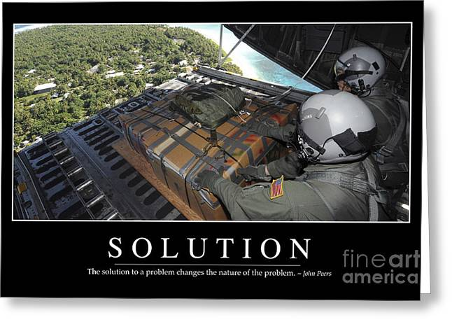 Solution Inspirational Quote Greeting Card by Stocktrek Images