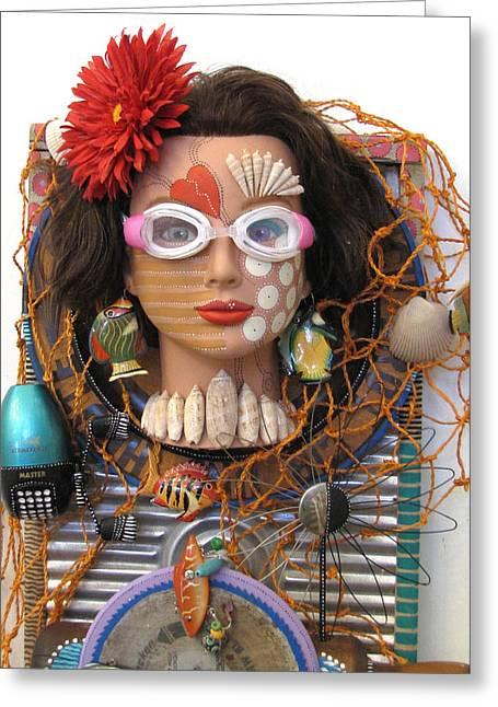 Sculpey Greeting Cards - Somethings fishy Greeting Card by Keri Joy Colestock