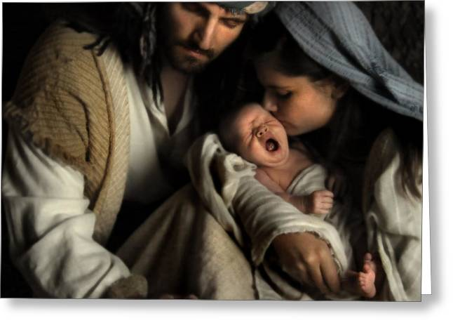 Baby Jesus Greeting Cards - Son of Man Greeting Card by Helen Thomas Robson